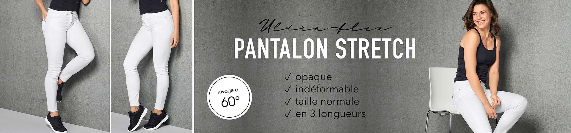 Pantalon stretch-ultraflex, opaque